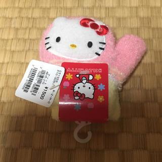 タグ付き ハローキティ 押すと鳴る 手袋 4~6歳 ピンク(手袋)