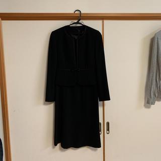 礼服 喪服  フォーマル ノーカラー リボン パイピング(礼服/喪服)