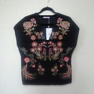 ザラ(ZARA)のZARA★ラバープリントトップス新品L(Tシャツ(半袖/袖なし))