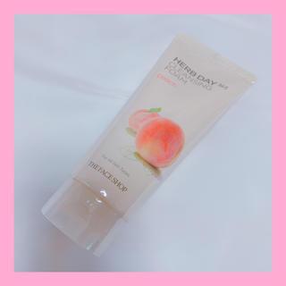 ザフェイスショップ(THE FACE SHOP)の新品◆ザフェイスショップ クレンジングフォーム 洗顔 ピーチ(洗顔料)