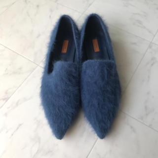 ザラ(ZARA)のシャギーファー ローファー(ローファー/革靴)