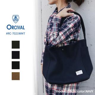 オーシバル(ORCIVAL)のORCIVAL オーシバル ショルダー バッグ カーキ 美品 オーチバル (トートバッグ)