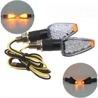 バイク LED トライアングル ミニ ウインカー クリア レンズ 12V(モトクロス用品)