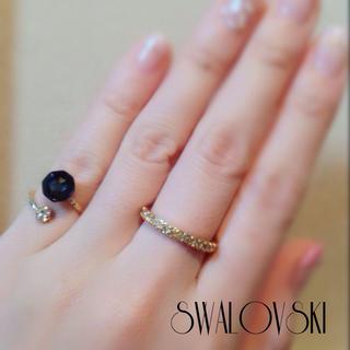 変形ピンキー&ストレートリング♡スワロ♡(リング(指輪))