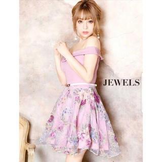 ジュエルズ(JEWELS)のJewels Aライン 花柄 ドレス(ミニドレス)