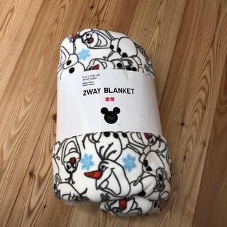 ディズニー(Disney)の新品☆ユニクロ フリースブランケット オラフ柄(おくるみ/ブランケット)