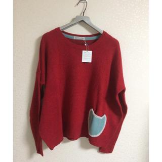 ツモリチサト(TSUMORI CHISATO)のネコポケットセーター(ニット/セーター)