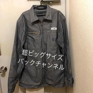 バックチャンネル(Back Channel)の超ビッグサイズ!XXL 日本製バックチャンネル 古着ヘリンボーンジャケットコート(カバーオール)