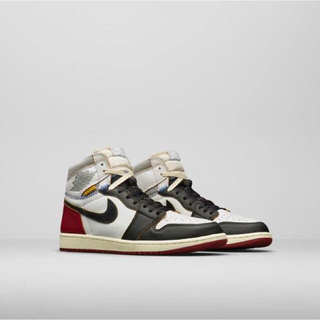 NIKE - 27cm union air jordan 1 ブラック