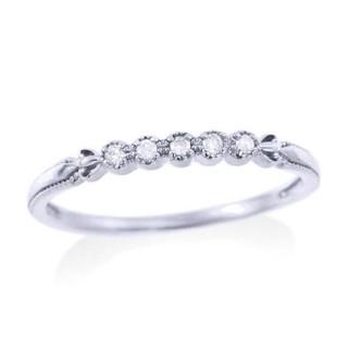 ジュエリーツツミ(JEWELRY TSUTSUMI)のK10 ホワイトゴールドダイヤモンドリング 11号(リング(指輪))