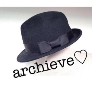アルシーヴ(archives)のarchieve☆スウェード素材黒ハット(ハット)