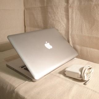 マック(Mac (Apple))のバッテリーほぼ新品 Core i5超高速 MacBook Pro Office(ノートPC)