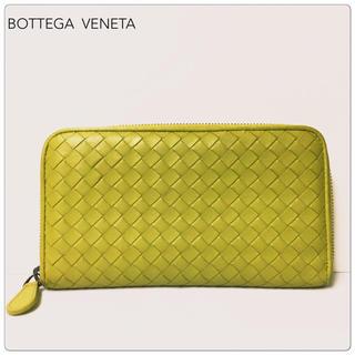 Bottega Veneta - ボッテガ・ヴェネタ  イントレーチャート ラウンドファスナー長財布
