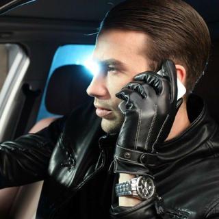 すぐ発送  レザーグローブ 防寒  スマホ 保湿性(手袋)