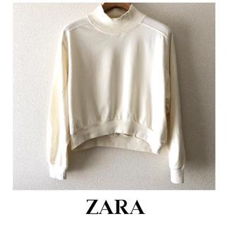 ザラ(ZARA)のZARA ▷ ショート丈トップス  ミドルネック スウェット(トレーナー/スウェット)