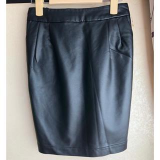 ティップトップ(tip top)のフェイクレザーのミニタイトスカート(ミニスカート)