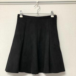 アンティックラグ(antic rag)のスエード スカート 黒 ブラック anticrag(ミニスカート)