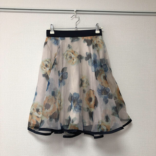 アールディールージュディアマン(RD Rouge Diamant)のルージュディアマン 花柄 オーガンジー スカート(ひざ丈スカート)