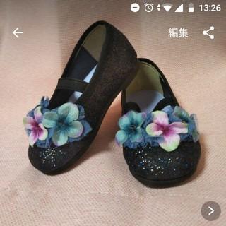 【新品箱付】バレエシューズ✾13㌢✾お花(フラットシューズ)