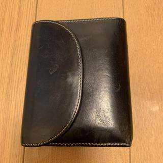 ホワイトハウスコックス(WHITEHOUSE COX)のホワイトハウスコックス S1058 ネイビー×レッド(折り財布)