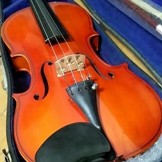 高級 国産バイオリン 鈴木 No.13 証明ラベル有、弓、松脂、肩当てセット(ヴァイオリン)