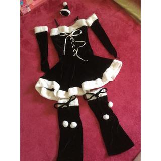 デイジーストア(dazzy store)のクリスマス ブラックサンタ コスプレ(衣装一式)