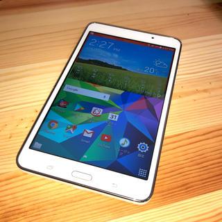 サムスン(SAMSUNG)のSamsung Galaxy Tab4 ホワイト(タブレット)