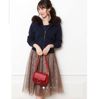 ジャスグリッティー(JUSGLITTY)の新品 ジャスグリッティー チュール スカート レオパード フレアスカート(ひざ丈スカート)