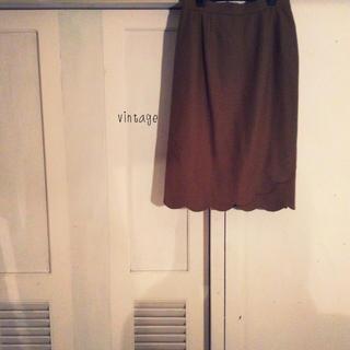 フラワー(flower)のvintage…skirt(ひざ丈スカート)
