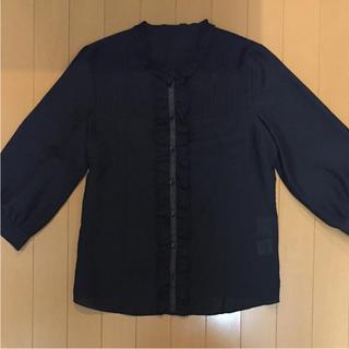 エマジェイム(EMMAJAMES)のエマジェイム シンプル 黒シャツ(シャツ/ブラウス(長袖/七分))