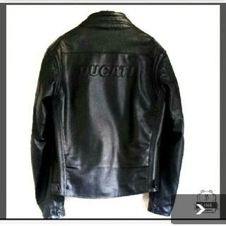 ドゥカティ(Ducati)の【美品】DUCATI ドゥカティ レザーライダースジャケット メンズ メッシュ(レザージャケット)