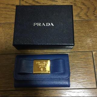プラダ(PRADA)の美品 PRADA キーケース リボン(キーケース)