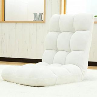 激安商品★人気No.1★超ふわふわ!座椅子!リクライニング ホワイト(座椅子)