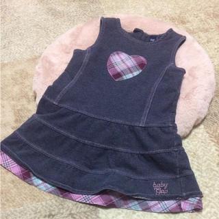 ベビーギャップ(babyGAP)のbabygap 95サイズ ジャンパースカート ワンピース デニム風 厚手 冬用(ワンピース)