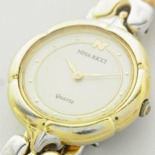 ニナリッチ(NINA RICCI)のニナリッチ コンビ クォーツ ブレスレット ウォッチ 腕時計 新品電池 作動品(腕時計)
