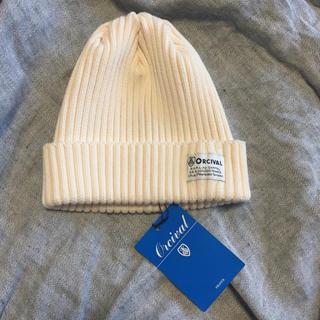 オーシバル(ORCIVAL)の【新品】オーチバル ニット帽 オフホワイト(ニット帽/ビーニー)