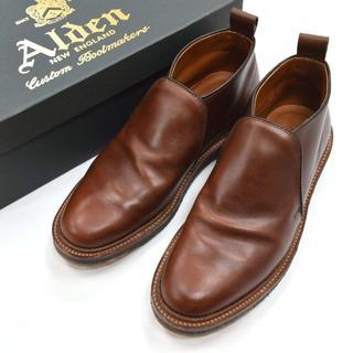 オールデン(Alden)の美品 Alden オールデン ゴア チャッカブーツ バリーラスト 6.5D(ブーツ)