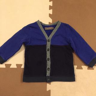 ディーフェセンス(D.fesense)のD.fesenseデーフェセンス男の子カーディガン紺&ブルー80cm(カーディガン/ボレロ)