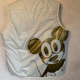 ディズニー(Disney)のレトロミッキー ベスト ホワイト(ナイロンジャケット)