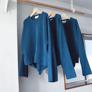 サンシー(SUNSEA)のyoke 7g oversized half cardigan crewneck(ニット/セーター)