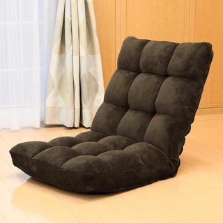 【ふあふあもこもこ♪】 座椅子 低反発 マイクロファイバー 42段階調整(座椅子)