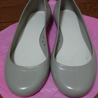 【イタリア製🖤】レインシューズ  グレー レディース(レインブーツ/長靴)