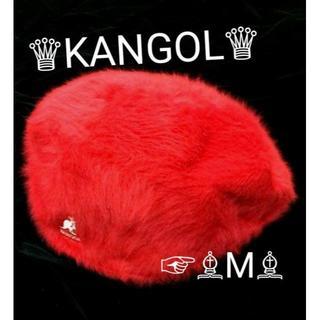 カンゴール(KANGOL)のセール kangol カンゴール アンゴラ ファー ハンチング レッド M(ハンチング/ベレー帽)