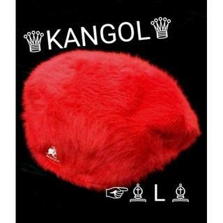 カンゴール(KANGOL)のセール kangol カンゴール ファー ハンチング ファーゴラ L 赤 レッド(ハンチング/ベレー帽)