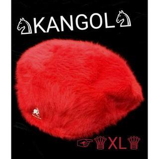カンゴール(KANGOL)のセール kangol カンゴール アンゴラファー ハンチング レッド xl(ハンチング/ベレー帽)