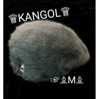 カンゴール(KANGOL)のセール kangol カンゴール アンゴラファー ロゴ ファーハンチング m(ハンチング/ベレー帽)