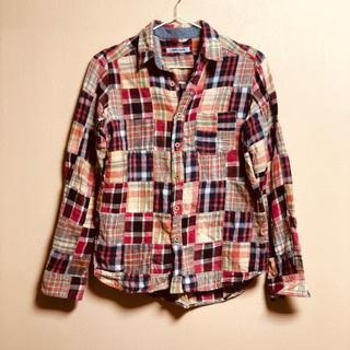 キューブシュガー(CUBE SUGAR)のチェックシャツ 長袖 M  CUBE SHUGAR(シャツ/ブラウス(長袖/七分))