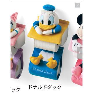 ディズニー(Disney)のディズニー トイレペーパーホルダー ドナルド 新品未使用(トイレ収納)