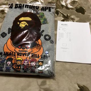 アベイシングエイプ(A BATHING APE)のBAPE ape baby milo パーカー ジャケット xl naruto(パーカー)