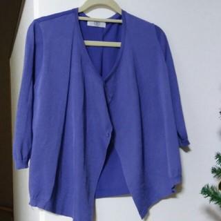 ジェイプレス(J.PRESS)のJプレス 青紫色の薄手カーディガン(カーディガン)